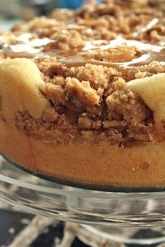 2 tablespoons butter 3 cups peeled and sliced Granny Smith apples (about 3 large) Streusel Topping Caramel Sauce 1/2 cup butter, softene...