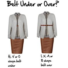 How to wear skinny belts with cardigans
