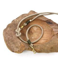 TAU STIL - Leine aus Tau (10mm) - natur.oliv - Messing Cord, Creations, Inspiration, Dogs, Dog Leash, Tutorials, Biblical Inspiration, Cable, Cords
