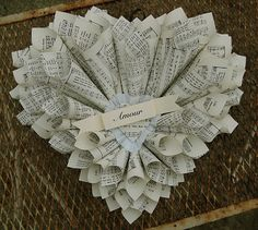 Saltbox Treasures: Happy Valentine's Day! ... A new heart sheet music wreath.
