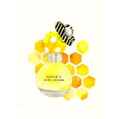 Marc Jacobs Honey Fragrance Watercolor Perfume bottle by MilkFoam, $30.00