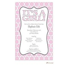 Girl Baby Shower Invitations Its a girl! Polka Dots