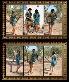 bohoqueens.com Short Green Dress, Short Dresses, Green Shorts, Silk Dress, Boho Fashion, Queens, Image, Clothes, Design