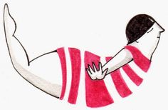 Leap of Faith by Ileana Perez-Monroy  Gel pen + Watercolor Illustration