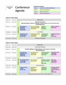 template for conference schedule