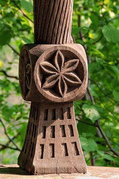 romanian porch pole by Ioan Bodean