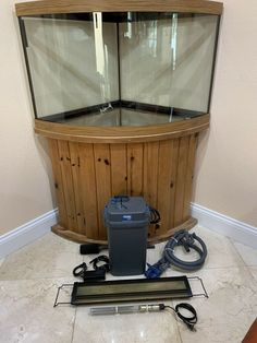 I Have A Very Nice Large 95 Gallon Corner Aquarium For It Includes The Tank Stand And An Led Light Also Has Sun Canister