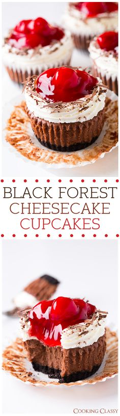 Black Forest Cheesecake Cupcakes - these are insanely delicious!!