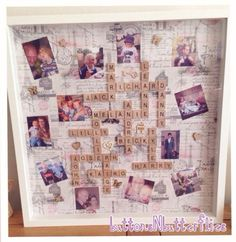 Large 50x50cm frame scrabble frame by ButtonNButterflies on Etsy