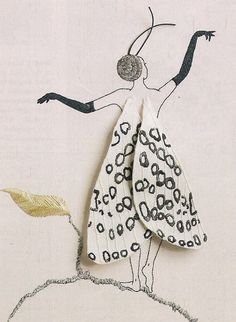 Butterfly Girl Hypercompe Scribonia Hand Embroidery  by Taetia, $14.95