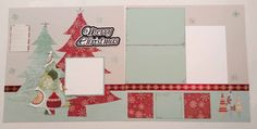 Merry Christmas 12x12 Premade Scrapbook Page by JensMemoryMakers