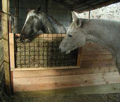 Homemade stall hay feeder