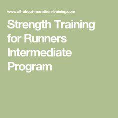 Strength Training for Runners Intermediate Program