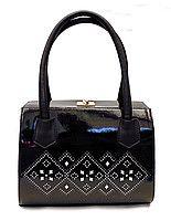 Женская сумка чёрная с узором