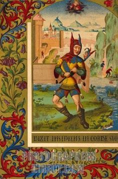 16116036ced5 A Court Fool Of The Century. Century Reproduction Of Miniature From A  Medieval Manuscript PosterPrint