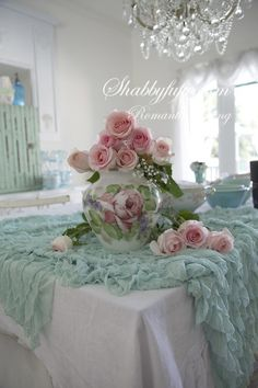 Shabby Chic Romantic Home Decor | Shabby chic pink & blue | Romantic Country Decorating