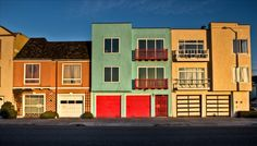 Beach houses in the Outer Sunset.
