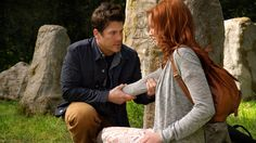 Christian Kane and Lindy Booth as Jake and Cassandra in The Librarians.