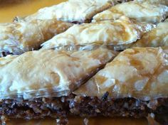 I made this baklava mostly for my daughter.  Honey is her favorite food and she would eat it out of the jar if I let her.  Most baklava recipes call for a  ton of sugar, but I used some dates and honey for sweetness instead of refined sugar.  You can always substitute agave for the honey if you don't use it.  The baklava was sweet and nutty with a nice crispy top from the phyllo dough.