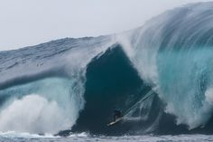 Mark Mathews, pulling into a monster in West Oz. Photo: Collins    www.surfermag.com