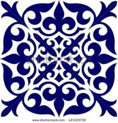 Geometric Islamic Seamless Pattern Arabesque blue and white. Tile Art, Mosaic Art, Turkish Pattern, Islamic Tiles, Photo Frame Design, Stencil Printing, Islamic Art Pattern, Color Games, Pattern And Decoration