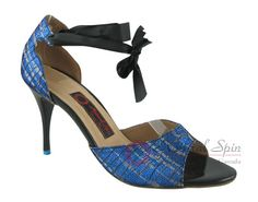 Natural Spin Tango Salsa Shoes/Tango Shoes/Fashion Shoes(Open Toe):  T1102-T7_Bl