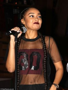 She's got the edge: Leigh-Anne Pinnock wore a sheer top, which showed off her toned torso ...