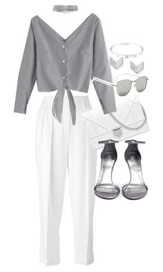 """""""Untitled #21217"""" by florencia95 ❤ liked on Polyvore featuring Lanvin, Cartier, WithChic, Stuart Weitzman, Yves Saint Laurent and FOSSIL"""