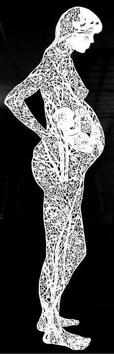paper cutting by Xiaohong Zhang of UW-Whitewater Kirigami, Paper Cutting, Cut Paper, Paper Paper, Papercut Art, Art Conceptual, Book Art, Birth Art, Art Graphique