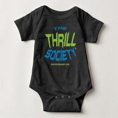 The Thrill Society Logo Squeezed Design Baby Bodysuit - baby gifts giftidea diy unique cute