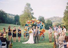Colorful Paper Flower Wedding: Caitlyn + Joe