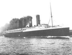 July 27, 1907: Lusitania on sea trials.