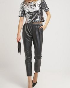 Goosecraft GALLERY Spodnie skórzane czarne black leather pants trousers