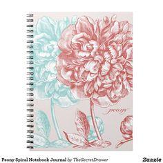 Peony Spiral Notebook Journal