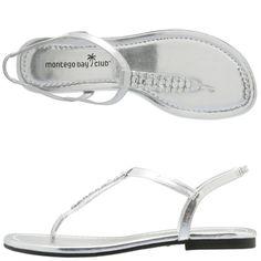 Montego Bay Club. Women's Popstar Embellished Gladiator Sandal. $19.99.