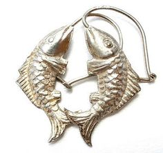 Vintage Sterling Silver Fish Earrings Dangle Drop Pierced 925 Hand Made Jewelry in Jewelry & Watches, Vintage & Antique Jewelry, Fine, Retro, Vintage 1930s-1980s, Earrings | eBay