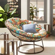 Our Papasan frame is handcrafted of natural—and naturally durable—rattan, with a lacquer finish. Unique Home Decor, Home Decor Items, Porch Chairs, Sunroom Decorating, Hanging Chair, Garden Furniture, Decorative Items, Taupe, Rattan