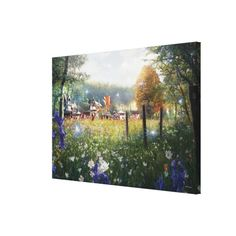Alice in Wonderland - Garden #canvas #print