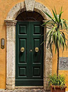 Door Knockers and paint - Lafayette green, Benjamin Moore