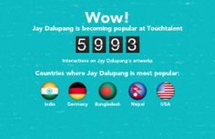 Jay Dalupang is becoming popular @touchtalent.com