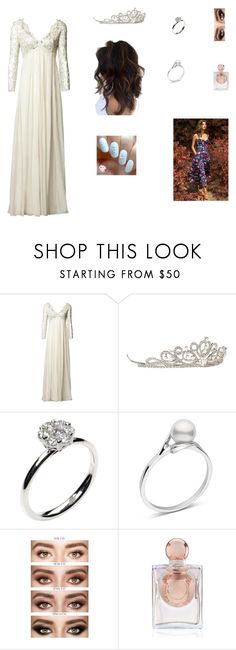 """""""Woman in White (4 days of Halloween)"""" by sass-queen-159 ❤ liked on Polyvore featuring Matthew Williamson, Nina, Annoushka and La Perla"""