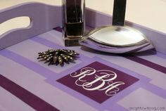 DIY Mother's Day Monogram Tray