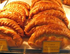LARGE TRADITIONAL CORNISH PASTIES: Steak, onion, potato and swede     ✫ღ⊰n