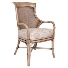 Rattan, mahogany, cane, linen and rayonColor: Putty