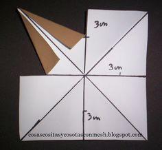 como hacer una estrella de papel grande paso a paso ~ cositasconmesh