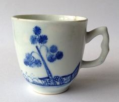 18th Century Antique Early Bow Porcelain Coffee Cup C1752 (not Derby/ Worcester)  £116