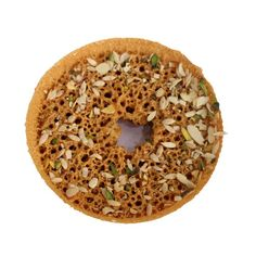 Make each festival more special with ghewar at the best price. India's most famous brand of salebhai. Sweets Online, Famous Brands, Bagel, Good Things, Food, Essen, Meals, Yemek, Eten