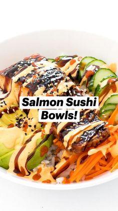 Sushi Recipes, Salmon Recipes, Seafood Recipes, Asian Recipes, Recipies, Cooking Recipes, Healthy Recipes, Delicious Recipes, Salmon Sushi