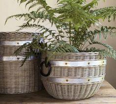pottery barn baskets | Cask Round Basket | Pottery Barn | Baskets