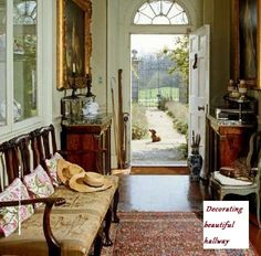 Entryway decor is very important as it sets the tone for whole house, so try our and hallway decorating ideas to create beautiful hallway entry. English Country Cottages, English Country Style, French Country, Hallway Decorating, Entryway Decor, Decorating Ideas, Decor Ideas, Style At Home, Design Your Home